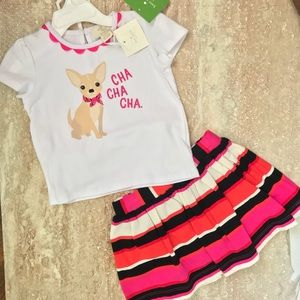❤️🐶NWT Kate Spade Rule the Skirt Set